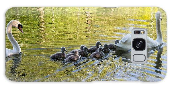 Swan Family Galaxy Case by Michael Mogensen