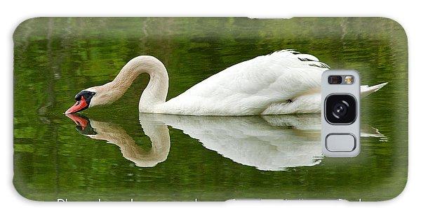 Swan Heart Bible Verse Greeting Card Original Fine Art Photograph Print As A Gift Galaxy Case by Jerry Cowart