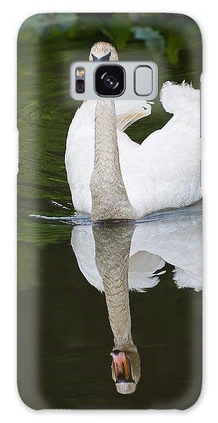 Swan In Motion Galaxy Case by Gary Slawsky