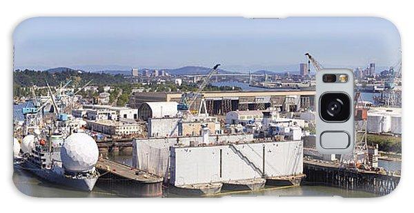 Swan Island Shipyard Panorama Galaxy Case