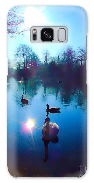 Swan Lake Galaxy Case by Andrew Middleton