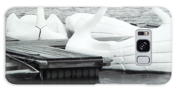 White Swan Lake Galaxy Case by Belinda Lee