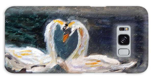 Swan Lovers Galaxy Case
