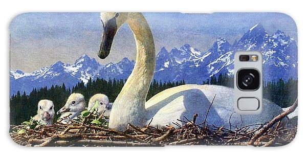 Gosling Galaxy Case - Swan Nesting Grand Teton Park by R christopher Vest