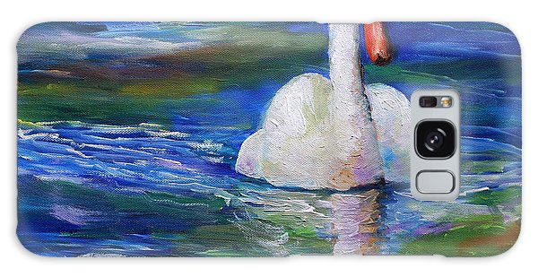 Swan Oil Painting Galaxy Case