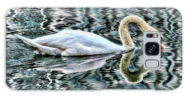 Swan On Lake Eola By Diana Sainz Galaxy Case