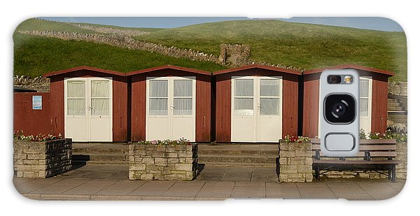 Swanage Beach Huts Galaxy Case by Linsey Williams