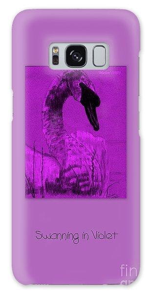 Swanning In Violet Galaxy Case by Linda Prewer