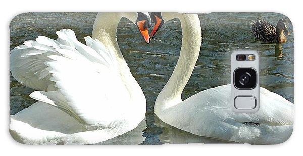 Swans At City Park Galaxy Case by Olivia Hardwicke