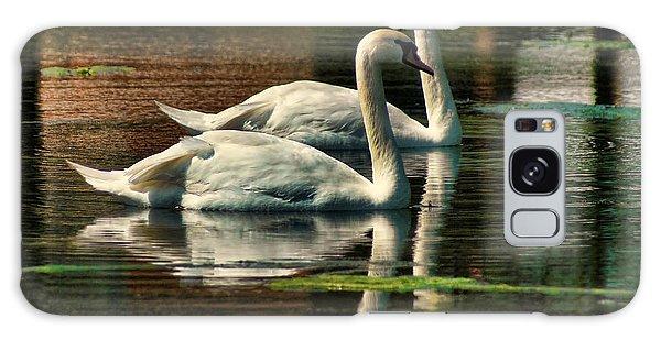 Swans Cruising Galaxy Case