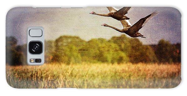 Swans In Flight Galaxy Case