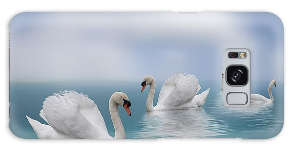 Swans In Paradise Galaxy Case