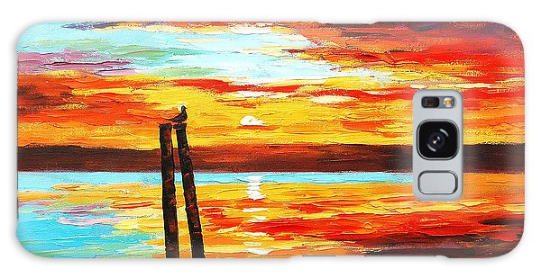 Ocean Sunset Galaxy S8 Case - Swansea Sunset by Graham Gercken