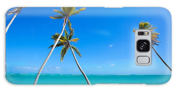 Swaying Palm Trees Galaxy Case