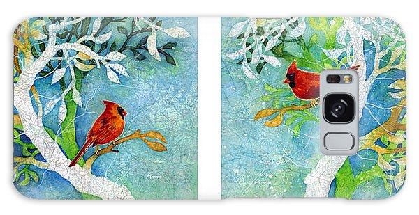 Cardinal Galaxy Case - Sweet Memories Diptych by Hailey E Herrera
