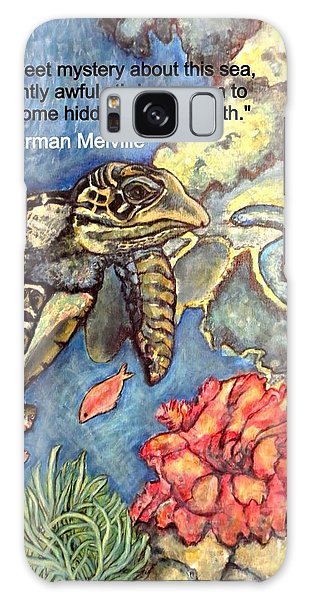 Sweet Mystery Of This Sea A Hawksbill Sea Turtle Coasting In The Coral Reefs 2 Galaxy Case by Kimberlee Baxter