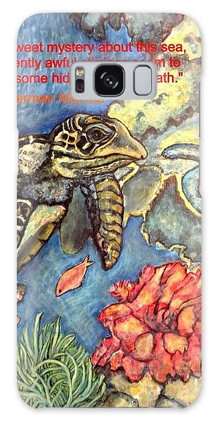 Sweet Mystery Of This Sea A Hawksbill Sea Turtle Coasting In The Coral Reefs Galaxy Case by Kimberlee Baxter