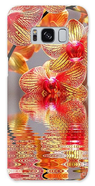Sweet Orchid Reflection Galaxy Case by Judy Palkimas