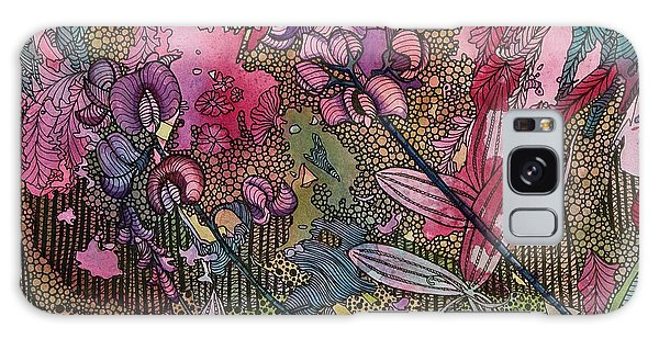Sweet Peas In Bloom Galaxy Case by Terry Holliday