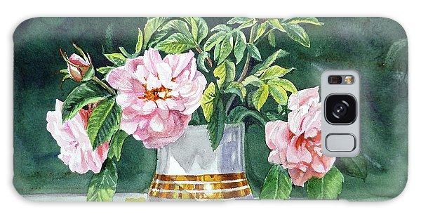 Galaxy Case featuring the painting Sweet Tea Roses Bouquet by Irina Sztukowski