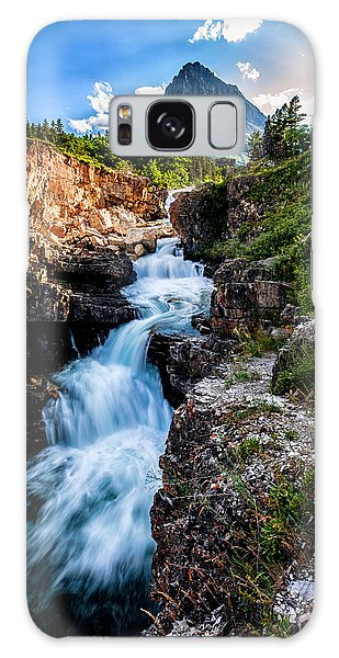 Swiftcurrent Falls Galaxy Case by Aaron Aldrich