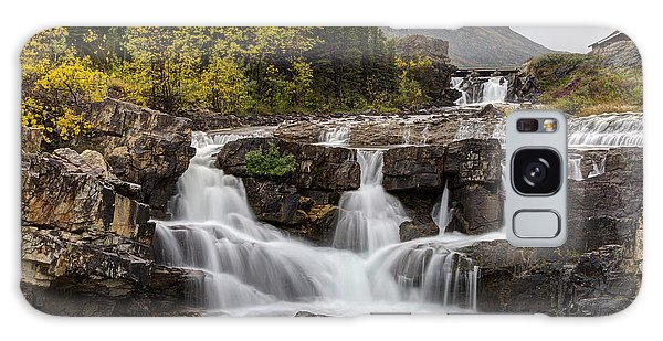Swiftcurrent Falls In Autumn Galaxy Case