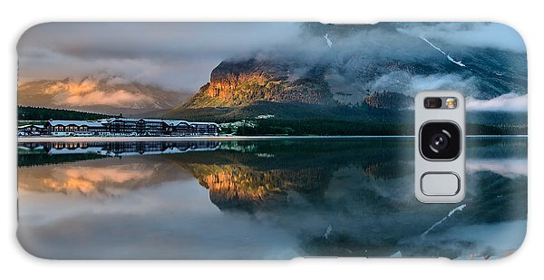 Swiftcurrent Lake Sunrise Galaxy Case