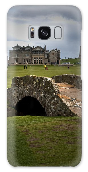 Swilken Bridge Vignette St Andrews Old Course Scotland Galaxy Case