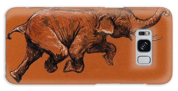 Swimming Galaxy Case - Swimming Elephant by Juan  Bosco