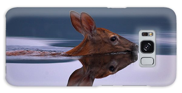 Swimming Fawn Galaxy Case