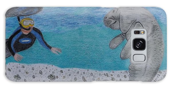 Swimming With The Manatee Galaxy Case by Gerald Strine