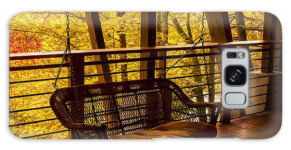 Swinging In Autumn Trees Original Photograph Galaxy Case