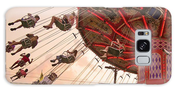 Swings At Kennywood Park Galaxy Case by Carrie Zahniser