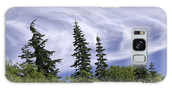 Swirling Clouds Crooked Trees Galaxy Case