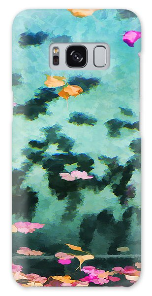 Swirling Leaves And Petals 2 Galaxy Case