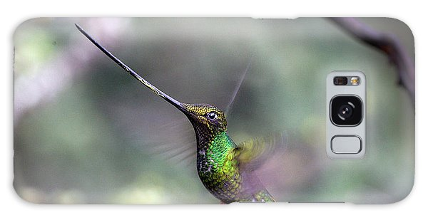 Sword-billed Hummingbird Hovering Ecuador Galaxy Case