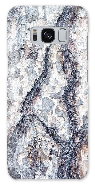 Weathered Galaxy Case - Sycamore Bark Abstract by Tom Mc Nemar