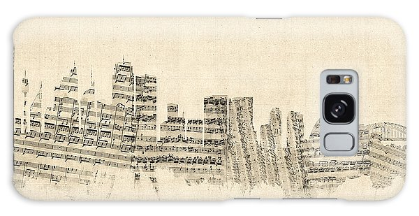 Sydney Skyline Galaxy Case - Sydney Australia Skyline Sheet Music Cityscape by Michael Tompsett