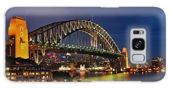 Sydney Harbour Bridge By Night Galaxy Case