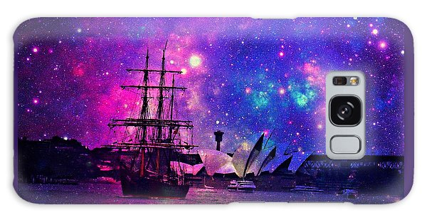 Sydney Harbour Through Time And Space Galaxy Case by Leanne Seymour