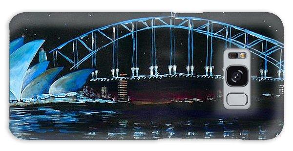 Sydney Opera House And Bridge At Night Galaxy Case