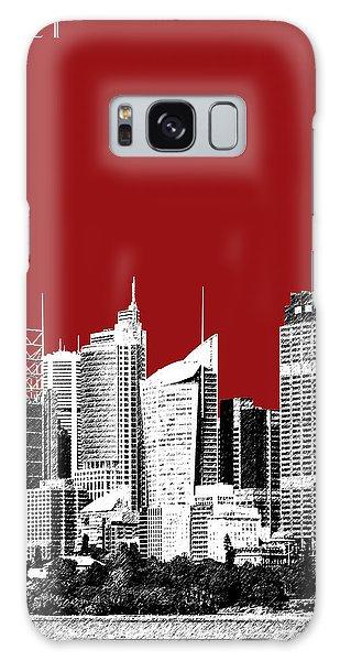 Sydney Skyline 1 - Dark Red Galaxy Case by DB Artist