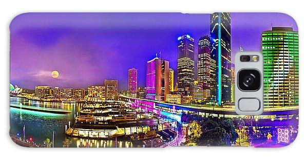 Sydney Skyline Galaxy Case - Sydney Vivid Festival by Az Jackson