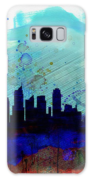 Sydney Skyline Galaxy Case - Sydney Watercolor Skyline by Naxart Studio