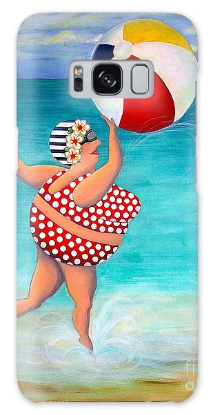 Sylvia At The Beach Galaxy Case by Stephanie Troxell