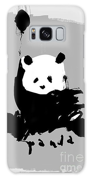 Young Galaxy Case - Symbolic Image Of A Panda On A Gray by Dmitriip