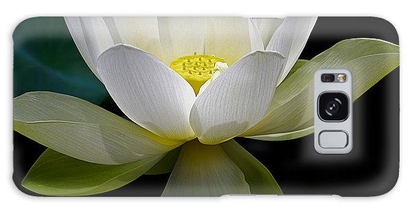 Symbolic White Lotus Galaxy Case by Julie Palencia