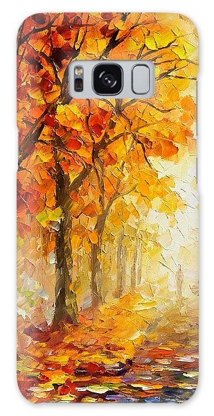 Symbols Of Autumn - Palette Knife Oil Painting On Canvas By Leonid Afremov Galaxy Case by Leonid Afremov