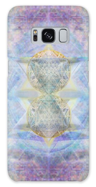 Synthecentered Doublestar Chalice In Blueaurayed Multivortexes On Tapestry Lg Galaxy Case