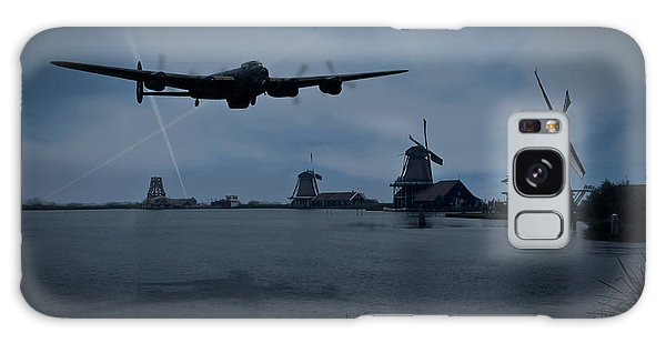 Dambusters Lancaster T For Tommy En Route To The Sorpe Galaxy Case